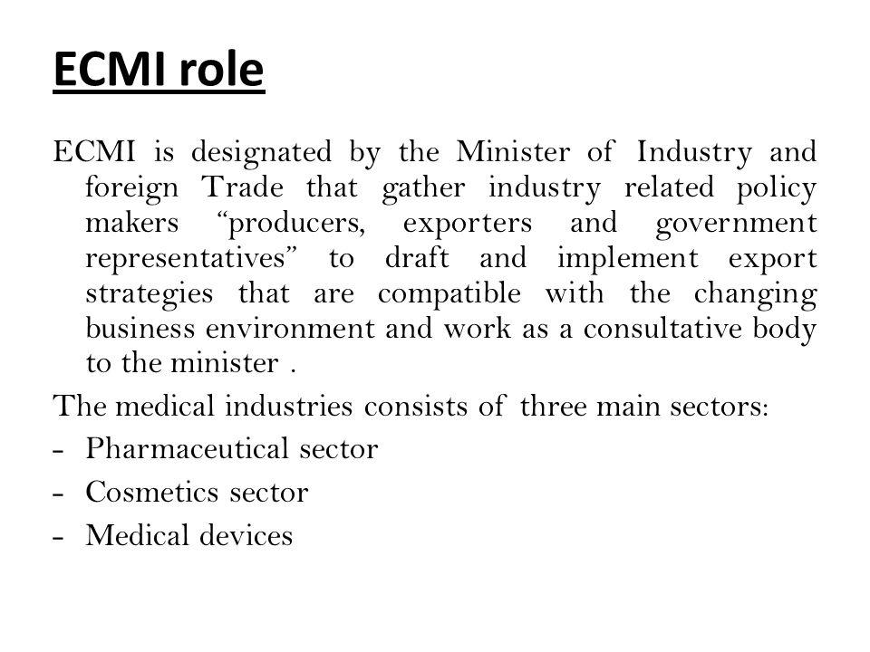 ECMI role