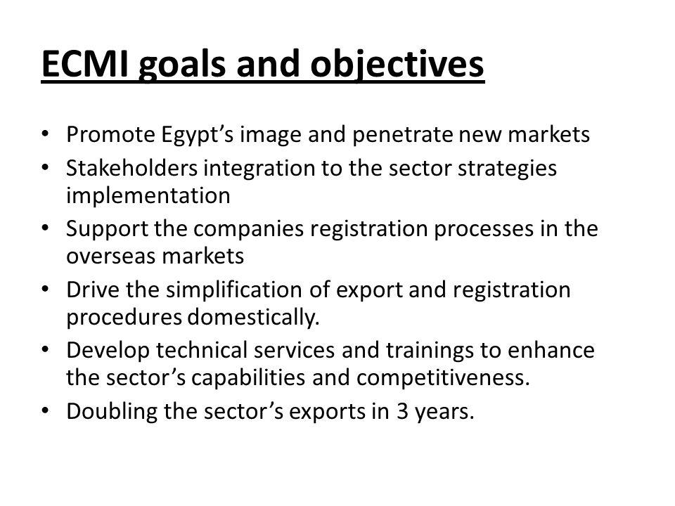 ECMI goals and objectives