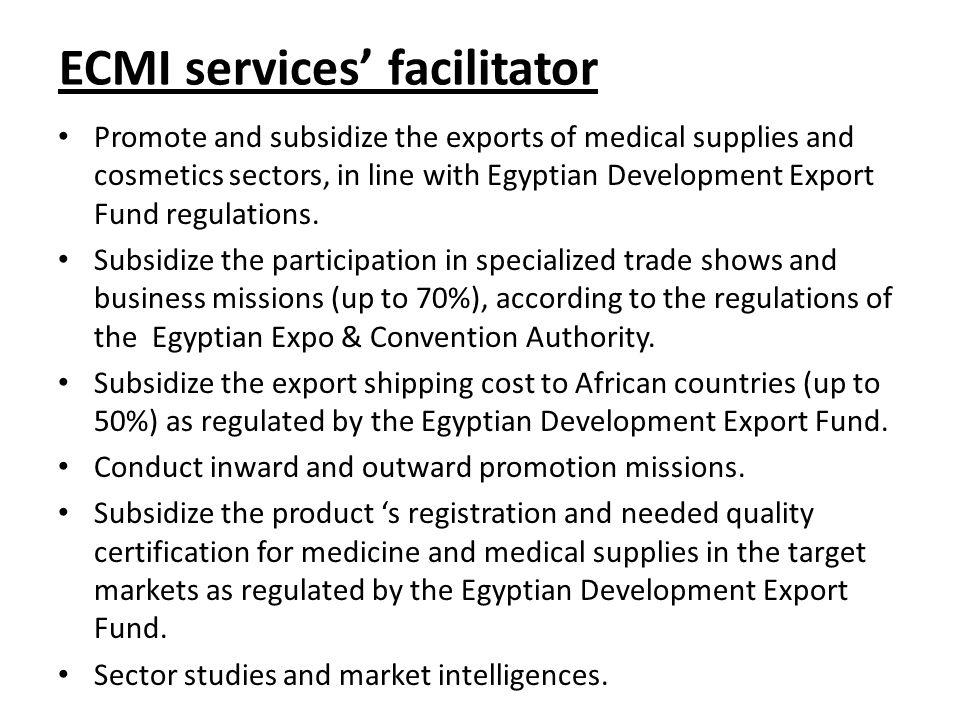 ECMI services' facilitator