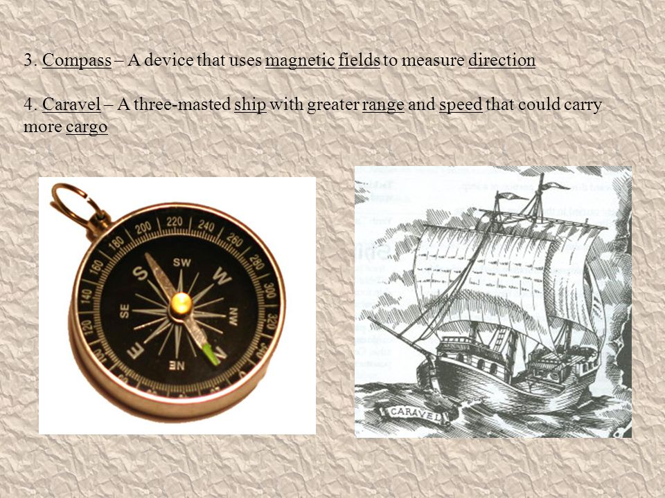 3. Compass – A device that uses magnetic fields to measure direction