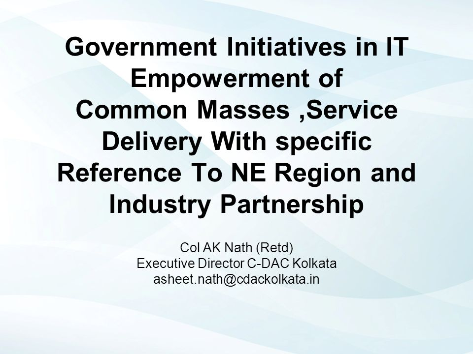 Executive Director C-DAC Kolkata