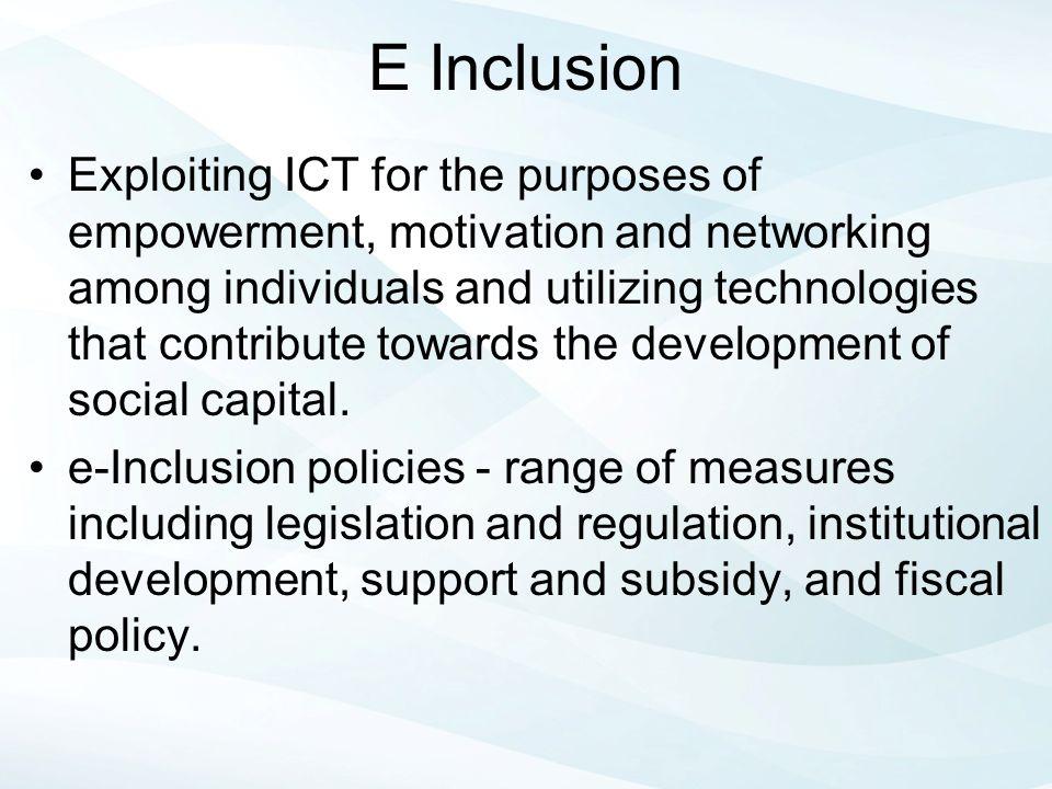 E Inclusion