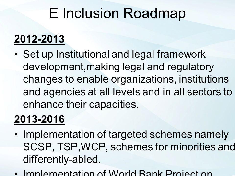 E Inclusion Roadmap 2012-2013.