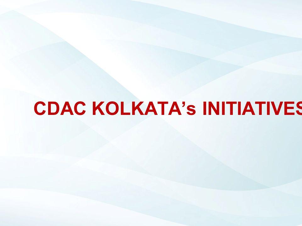 CDAC KOLKATA's INITIATIVES