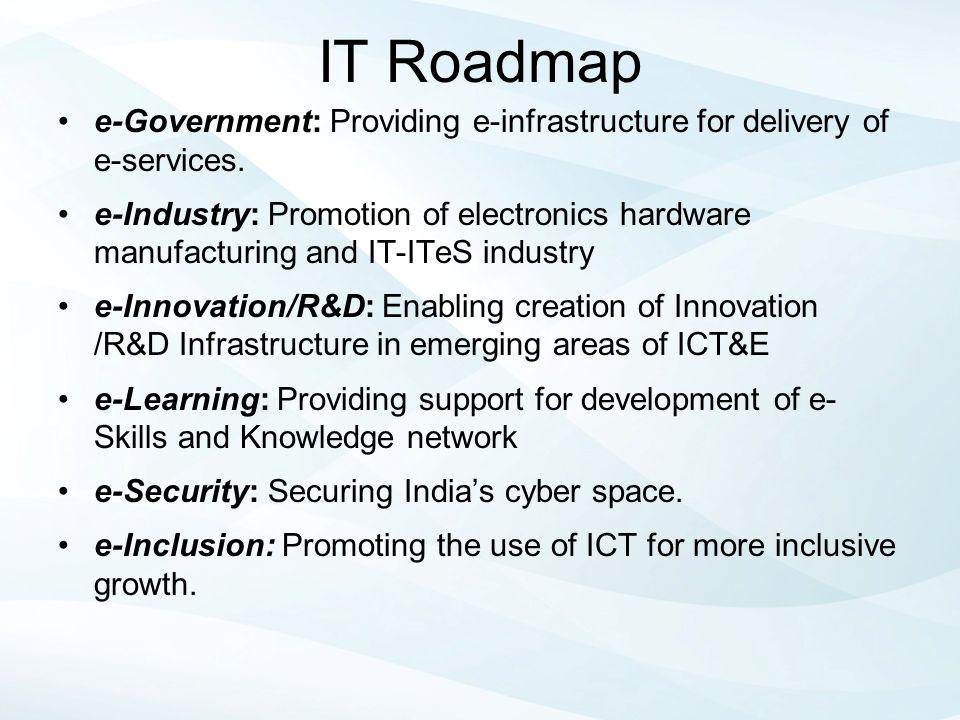 IT Roadmap e-Government: Providing e-infrastructure for delivery of e-services.