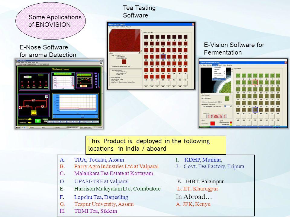 E-Vision Software for Fermentation E-Nose Software for aroma Detection