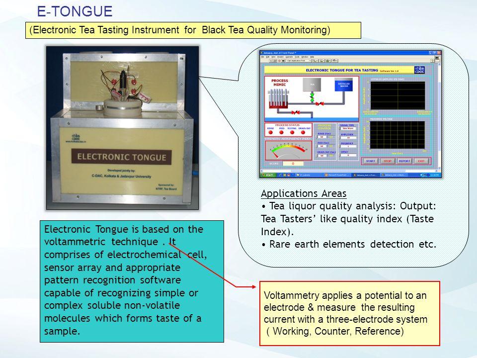 E-TONGUE Applications Areas