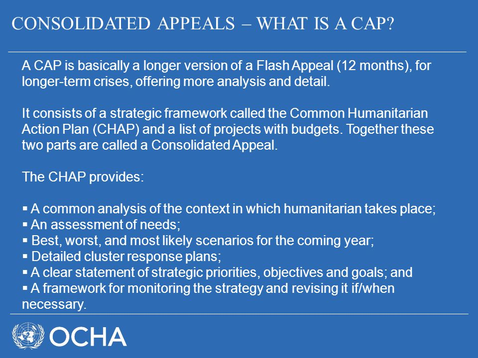 CONSOLIDATED APPEALS – WHAT IS A CAP