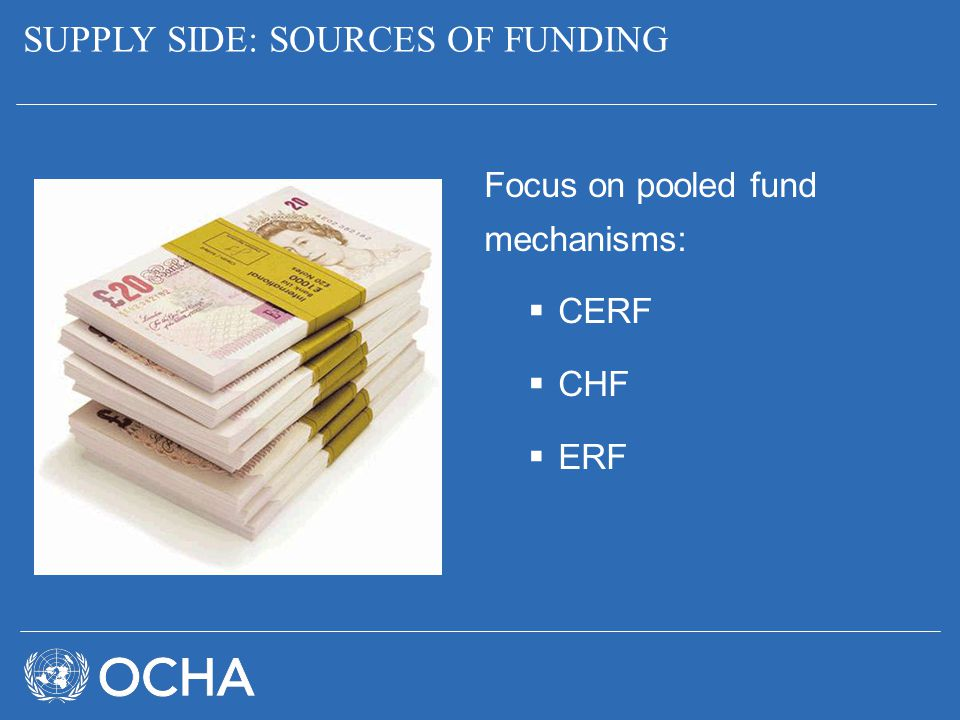 SUPPLY SIDE: SOURCES OF FUNDING