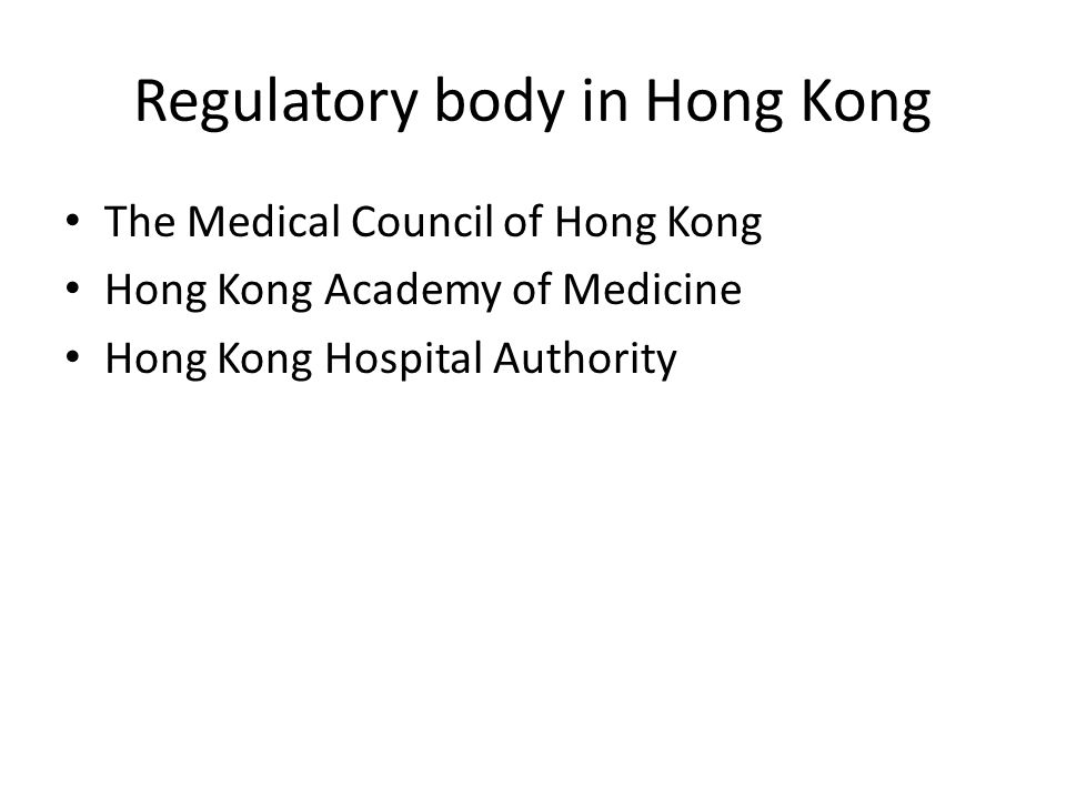 Regulatory body in Hong Kong