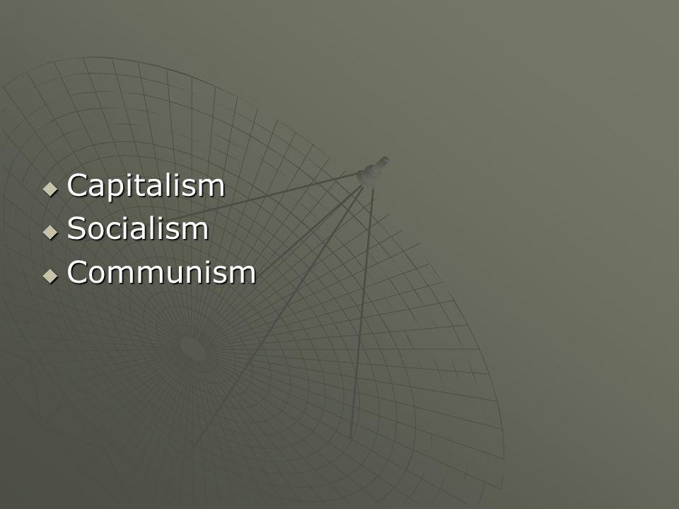 Capitalism Socialism Communism