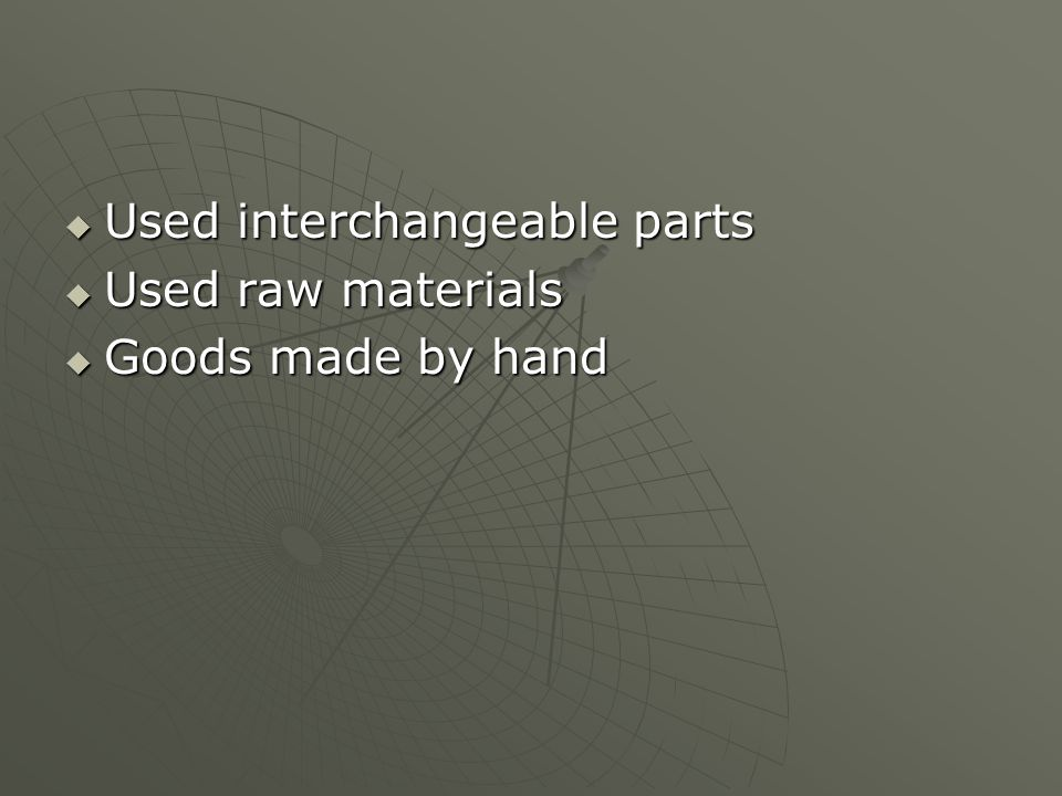 Used interchangeable parts