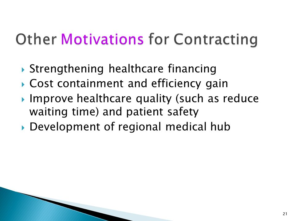 Other Motivations for Contracting