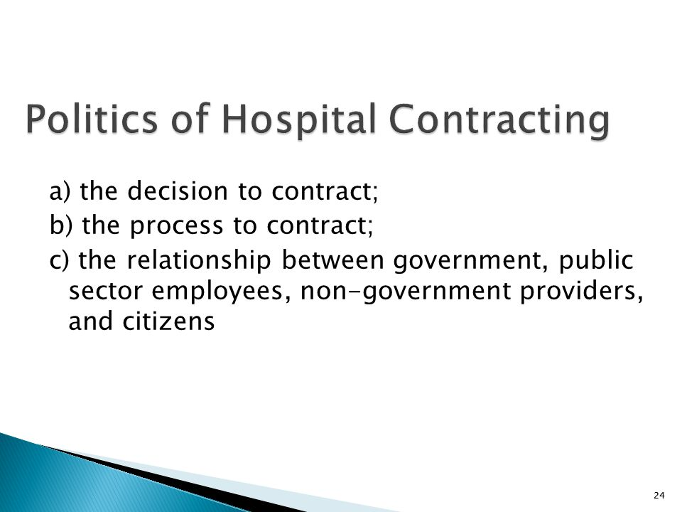 Politics of Hospital Contracting