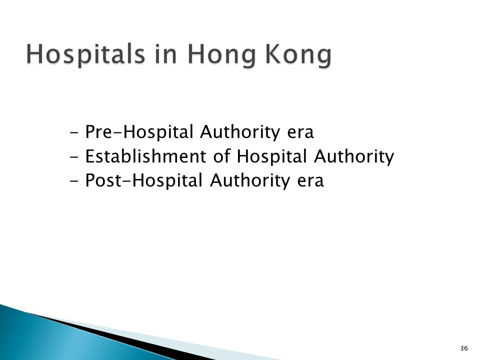 Hospitals in Hong Kong - Pre-Hospital Authority era