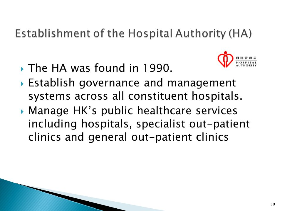 Establishment of the Hospital Authority (HA)