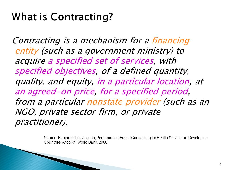 What is Contracting