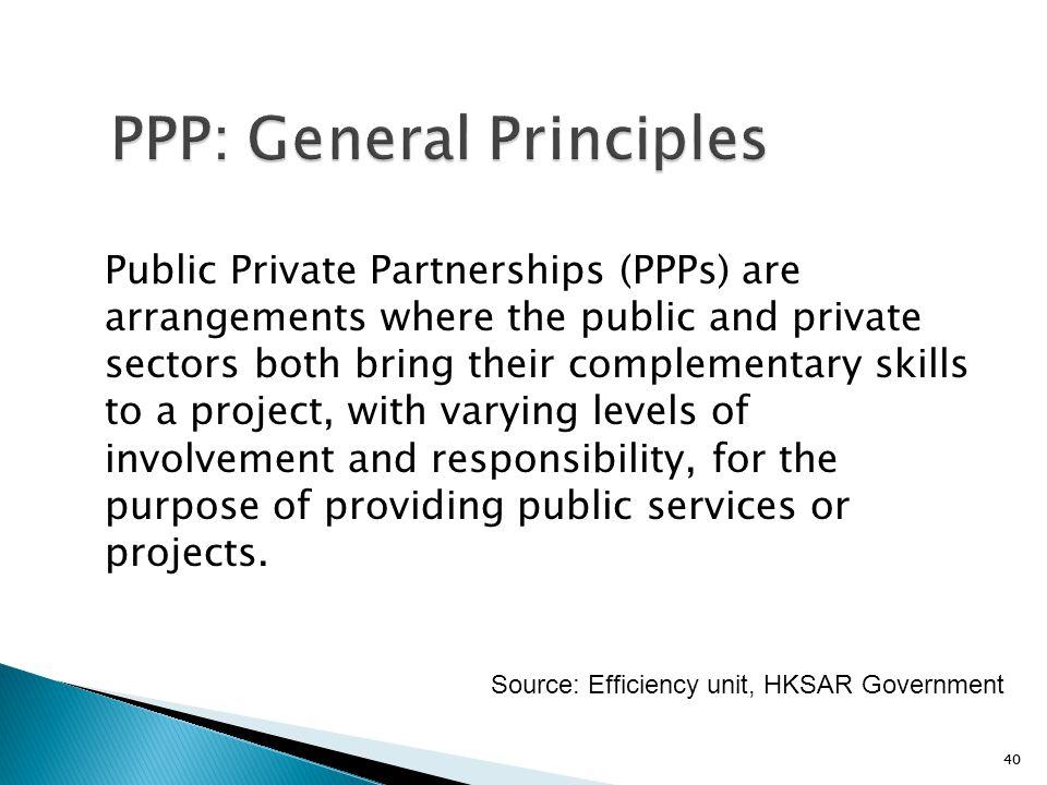 PPP: General Principles
