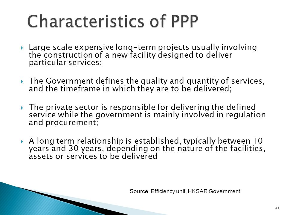 Characteristics of PPP