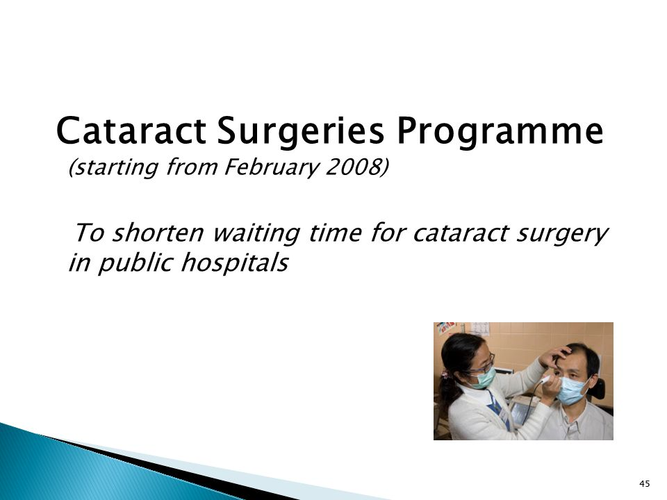 Cataract Surgeries Programme (starting from February 2008)