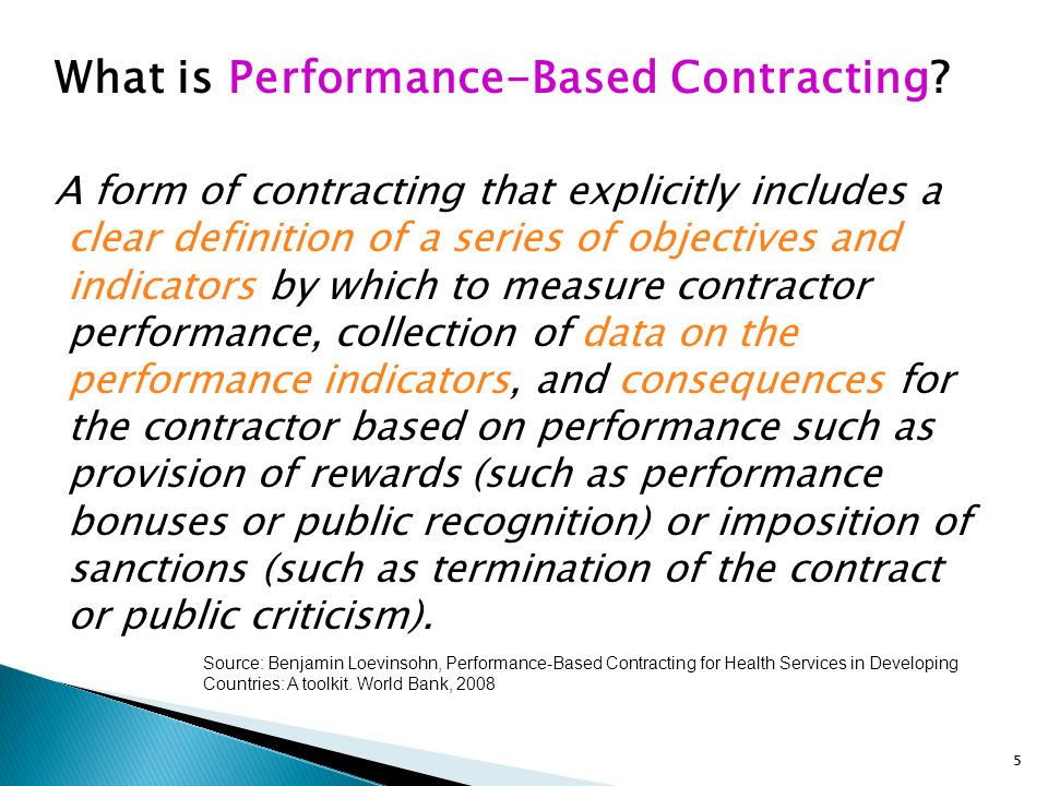 What is Performance-Based Contracting