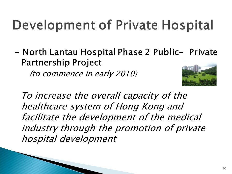 Development of Private Hospital