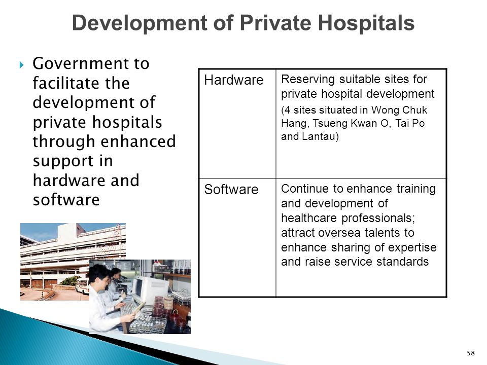 Development of Private Hospitals