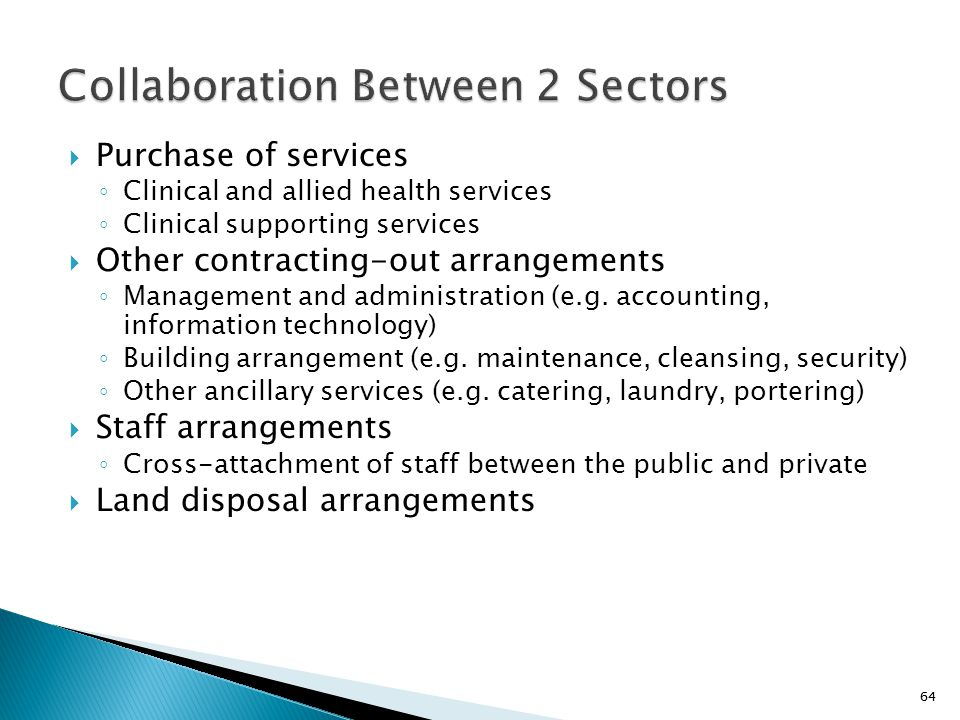 Collaboration Between 2 Sectors