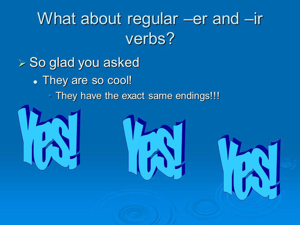 What about regular –er and –ir verbs