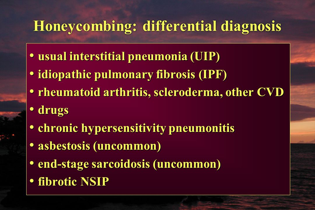 Honeycombing: differential diagnosis