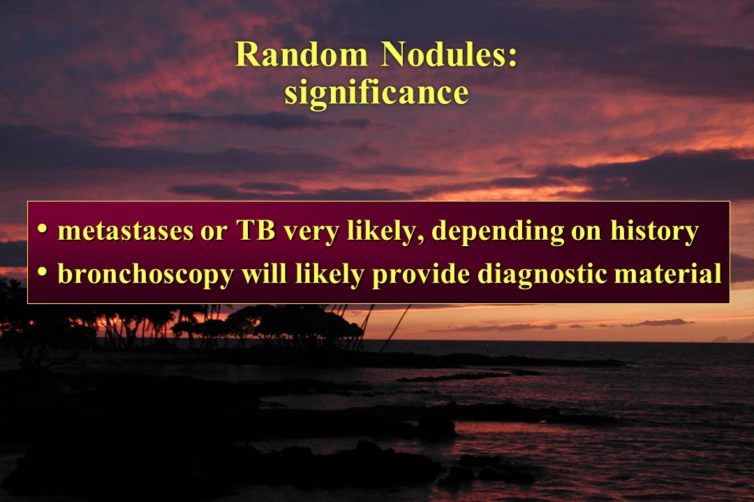 Random Nodules: significance