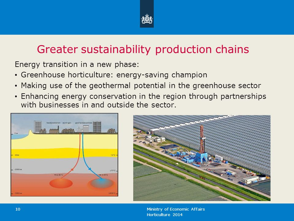 Greater sustainability production chains