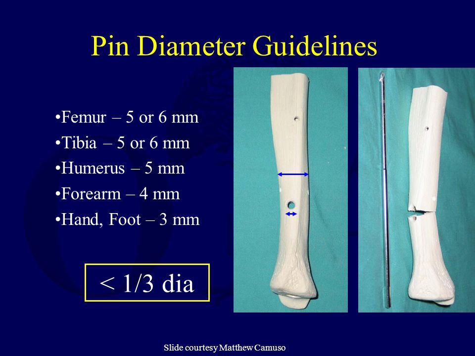 Pin Diameter Guidelines