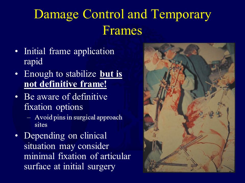 Damage Control and Temporary Frames