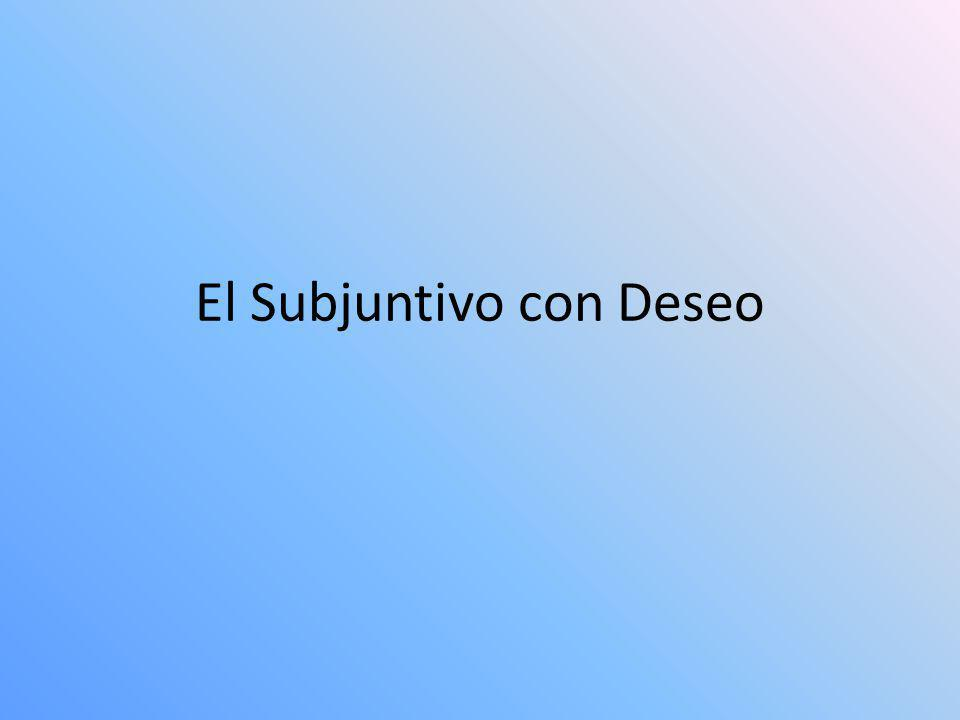 El Subjuntivo con Deseo