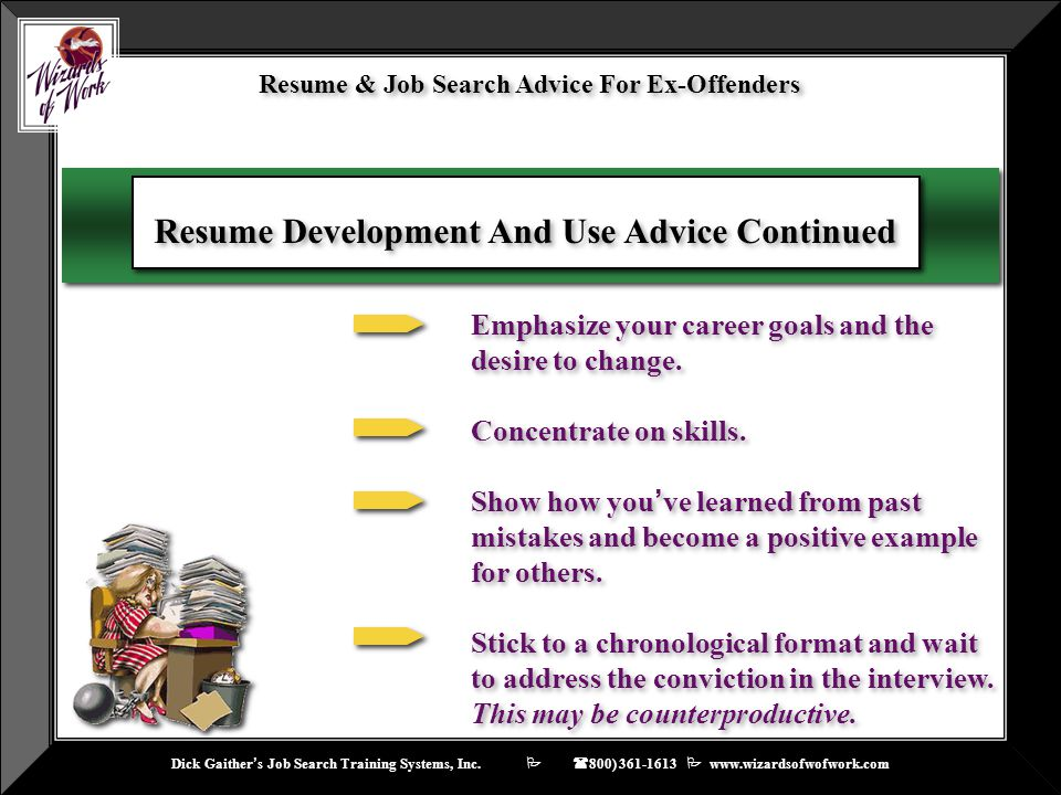 Resume & Job Search Advice For Ex-Offenders