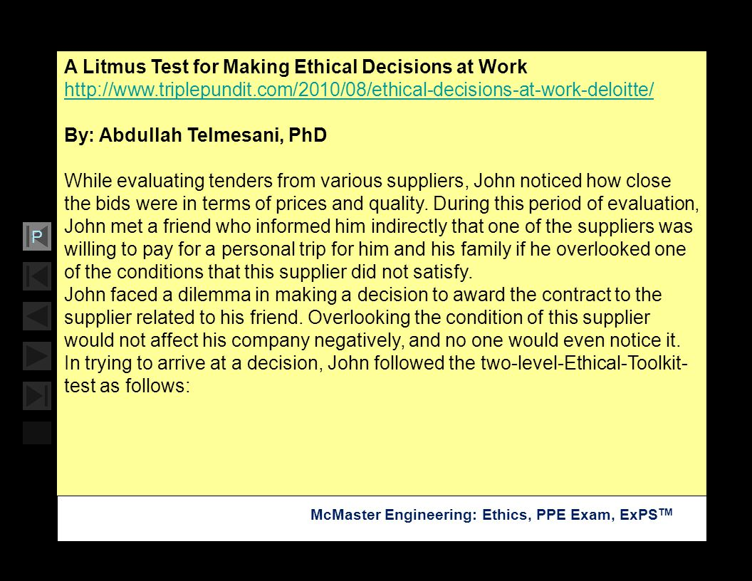A Litmus Test for Making Ethical Decisions at Work