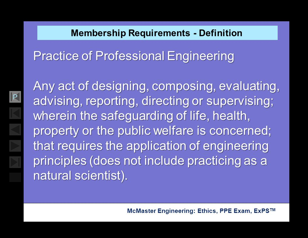Membership Requirements - Definition