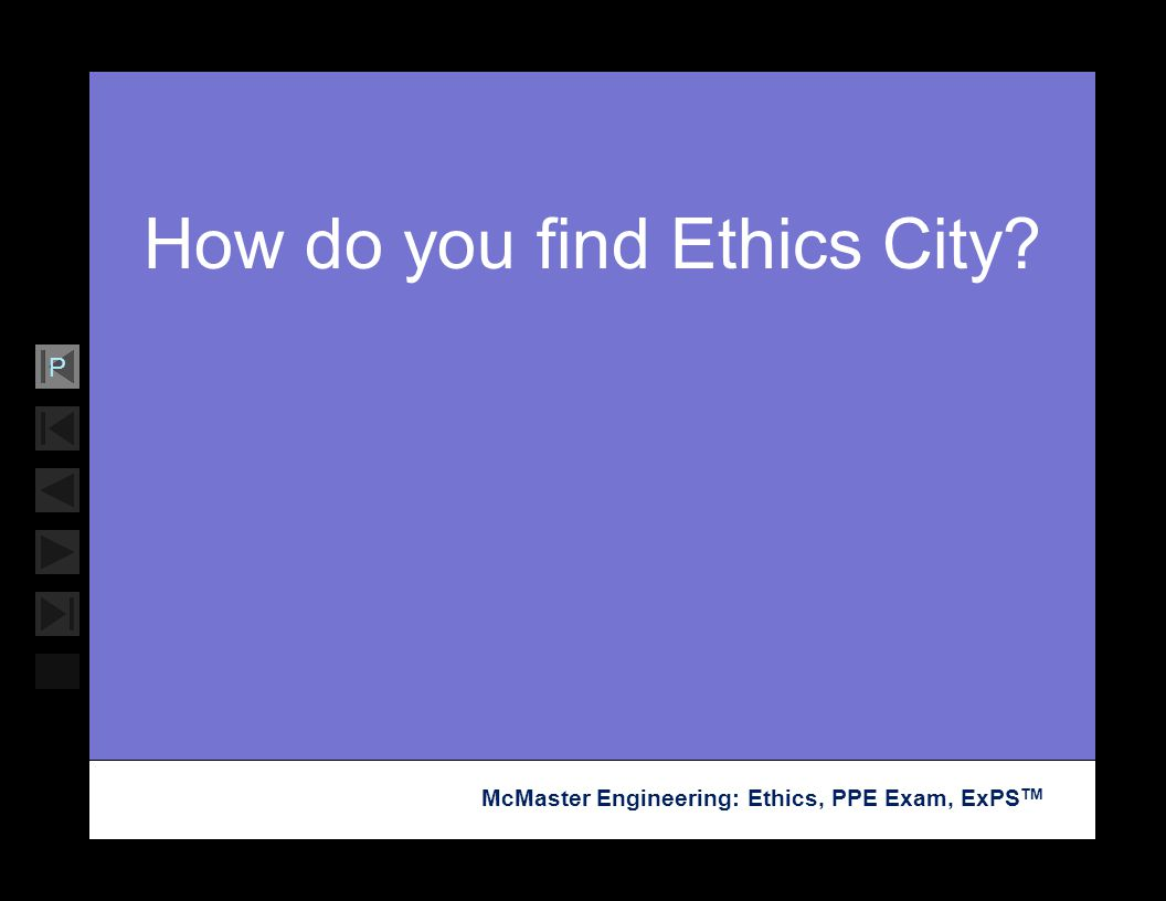 How do you find Ethics City