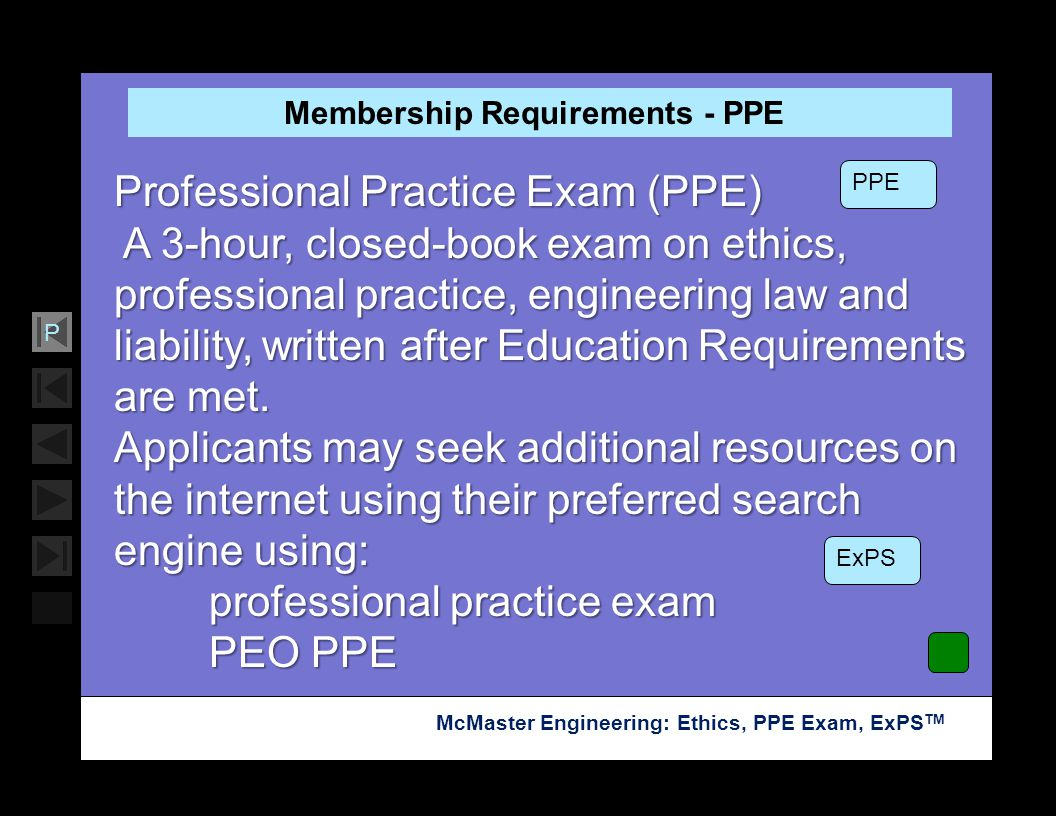 Membership Requirements - PPE