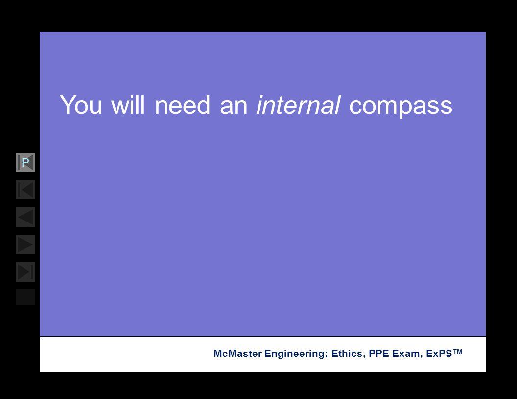 You will need an internal compass