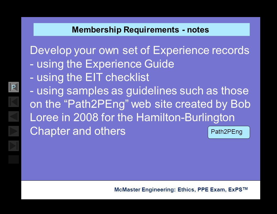 Membership Requirements - notes