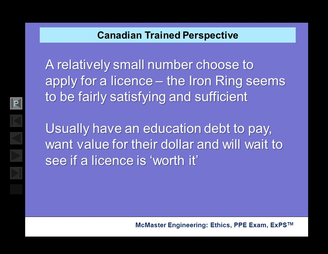 Canadian Trained Perspective