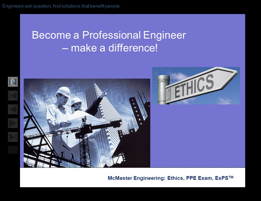 Become a Professional Engineer