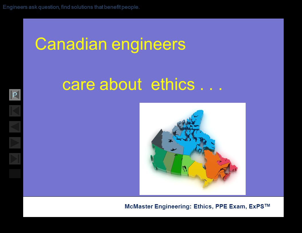 Canadian engineers care about ethics . . .