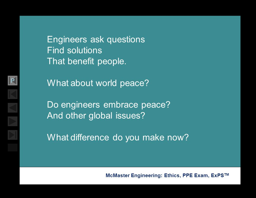 Engineers ask questions