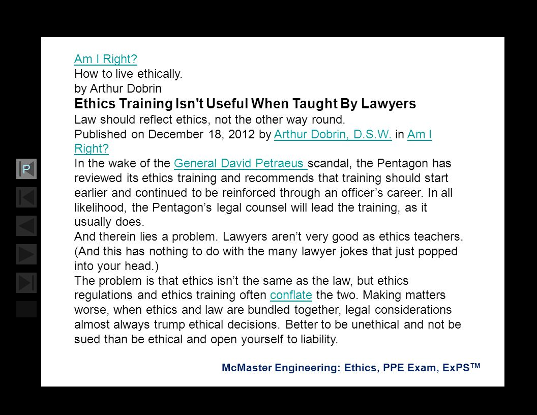 Ethics Training Isn t Useful When Taught By Lawyers