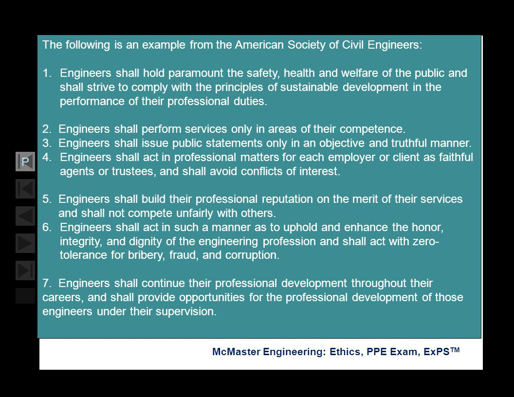 The following is an example from the American Society of Civil Engineers: