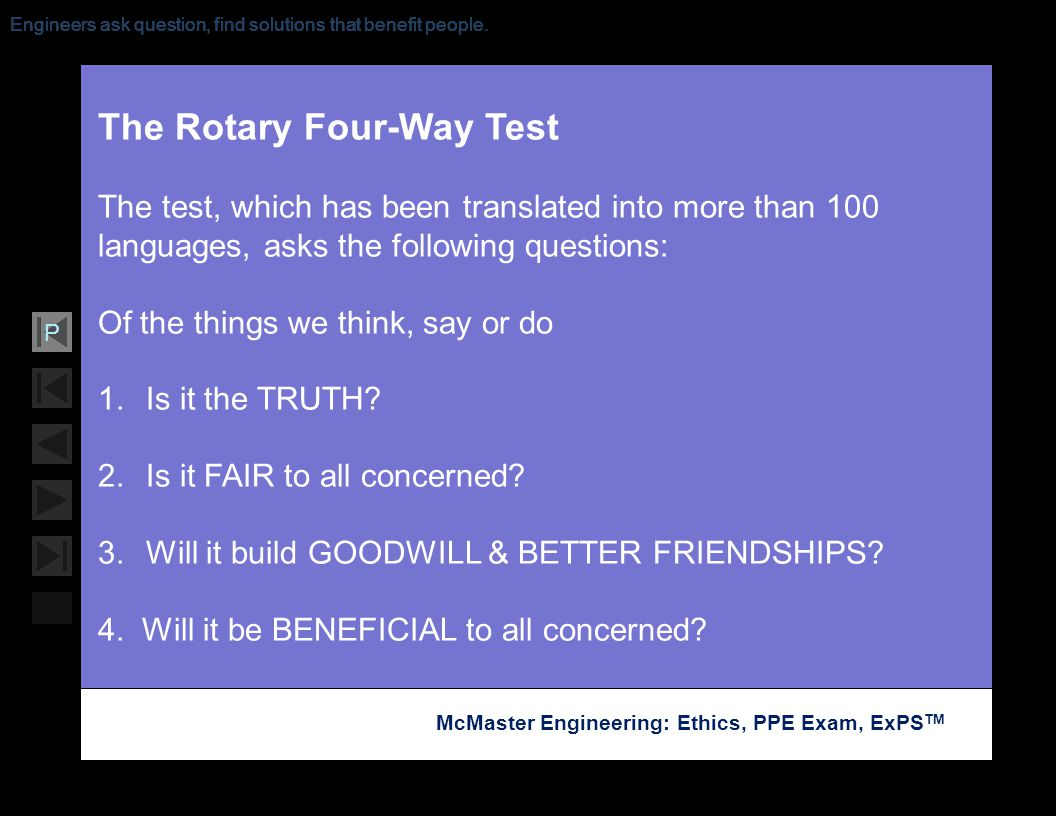 The Rotary Four-Way Test