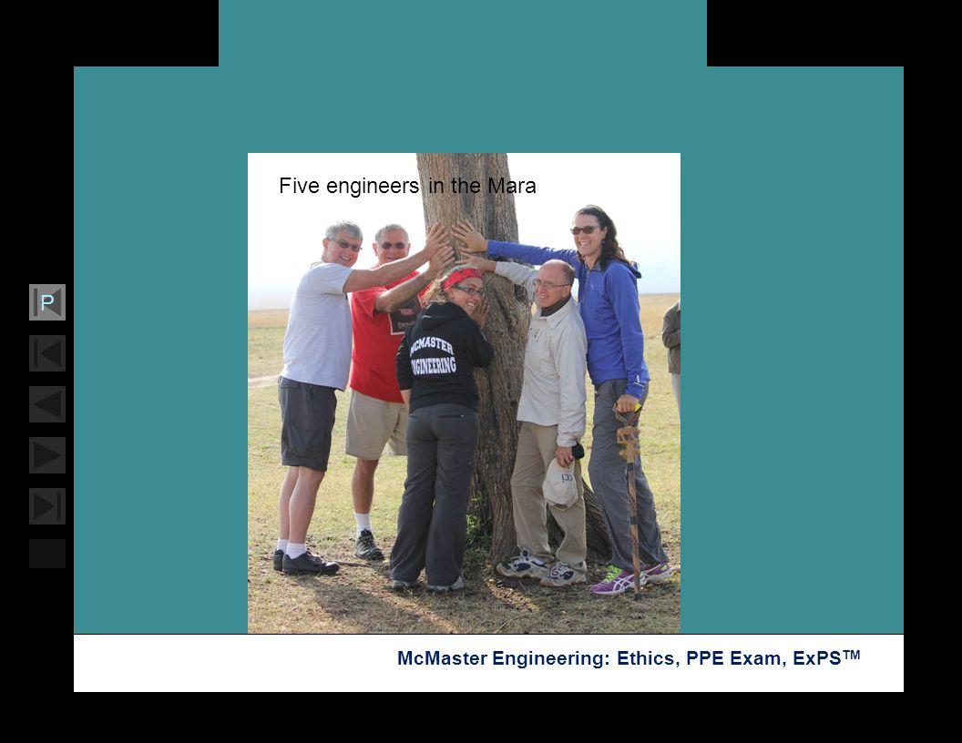 Five engineers in the Mara